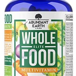 Whole Food Multivitamin Elite – Organic Multivitamin for Men and Women, Non-GMO, Vegan Multivitamin with Probiotics, Enzymes, B-Complex, Omegas for Daily Energy, Mood, Digestion, Heart Health,90 Count