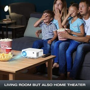 Mini Projector – 3600L Hompow Smartphone Portable Video Projector 1080P Supported 176″ Display, 50,000 Hours Led, Compatible with TV Stick/HDMI/VGA/USB/TV Box/Laptop/DVD/PS4 for Home Entertainment