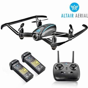 Altair #AA108 Camera Drone Great for Kids & Beginners | Free Priority Shipping | RC Quadcopter w/ 720p HD FPV Camera VR, Headless Mode, Altitude Hold, 3 Skill Modes, Easy Indoor Drone, 2 Batteries