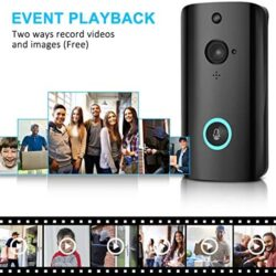 Dasuy WiFi Smart Video Doorbel M9 1080P Home Security Camera Smart WiFi Security Doorbell PIR Motion Detection App Control for iOS and Android (Black)