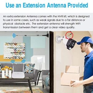 2Pack HD Wireless Security Camera Video Antenna Extension with Magnetic Stand Base for 2.4/5GHz Wireless CCTV WiFi Security IP Camera System 3M/10FT Black Lonnky