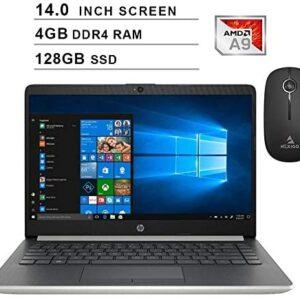 2020 Newest HP Pavilion 14 Inch Premium Laptop| AMD A9-9425 up to 3.7GHz| 4GB DDR4 RAM| 128GB SSD| AMD Radeon R5| WiFi| Bluetooth| Windows 10 Home S + NexiGo Wireless Mouse Bundle
