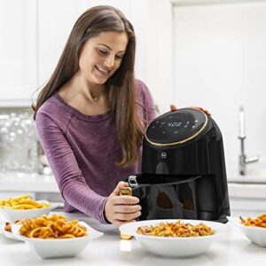 Best Choice Products 4.4qt 1400W 8-in-1 Digital Compact Air Fryer Kitchen Appliance w/LCD Screen, Recipes -Black/Gold