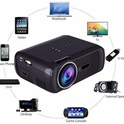5000 Lumens Full HD 1080P LED LCD 3D PC AV VGA HDMI TV Home Theater Projector My