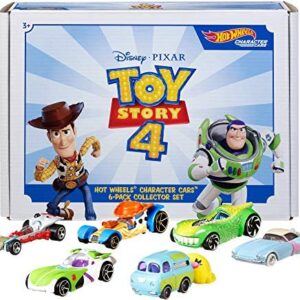 Disney Pixar Toy Story 4 Character Cars by Hot Wheels 1:64 Scale Woody, Buzz Lightyear, Bo Peep, Forky, Ducky and Bunny, and Rex Ages 3 And Up [Amazon Exclusive]