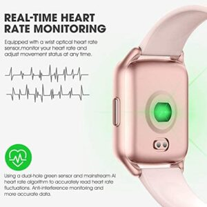 AMENON Fitness Tracker Watch for Women Men – Heart Rate Blood Pressure Oxygen Monitor Health Exercise Watch, Activity Tracker with Weather Step Calorie Counter, Waterproof Smart Fitness Watch