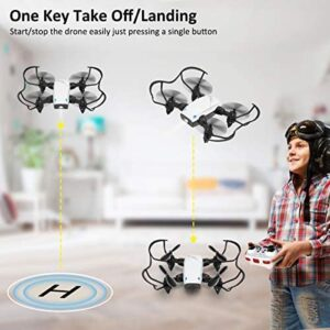 Foldable Mini Drone for Kids and Adults, HALOFUNO RC Quadcopter for Beginner Indoor, Altitude Hold Mode, One Key Take Off/Landing, APP Control