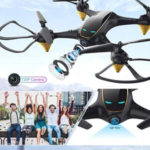 Drones with Camera for Adults Long Flight Time, EACHINE E38 WiFi FPV Quadcopter Drone with 720P 120°FOV HD Camera Live Video Selfie RC Drone for Kids and Beginners Indoor and Outdoor 2 Pcs Batteries
