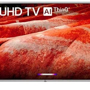 LG 86UM8070PUA 86″ 4K HDR Smart LED IPS TV w/AI ThinQ 2019 Model with Home Theater 31″ Soundbar, Wireless Backlit Keyboard, Flat Wall Mount Kit & SurgePro 6-Outlet Surge Adapter