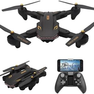 AMAZINGBUY – VISUO XS809S 2.0MP HD Wide Angle Camera Foldable SHARKS Drone Wifi FPV RC Quadcopter – 3.7V 1800mAh Up To 20 Minutes Long Fly Time Drone VISUO XS809HW XS809W XS809 [2019 Upgraded Version]