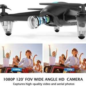 Drones for Adults,GPS FPV Drone with 1080p HD Camera Live Video, RC Quadcopter with GPS Return Home, Adjustable WiFi Camera, APP Control,5G WiFi Transmission,Follow Me Easy to Fly for Beginners.