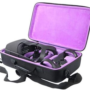Khanka Hard Travel Case Replacement for Oculus Quest All-in-one VR Gaming Headset (Inside Purple)