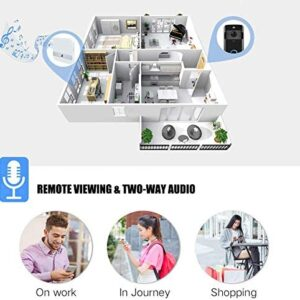 Video Doorbell [Upgrade] Wireless Doorbell Camera IP5 Waterproof HD WiFi Security Camera Real-Time Video for iOS&Android Phone, Night Light (Black)
