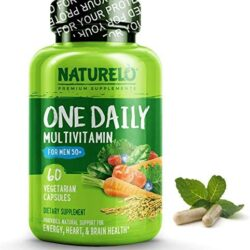 NATURELO One Daily Multivitamin for Men 50+ – with Whole Food Vitamins – Organic Extracts – Natural Supplement – Best for Energy, General Health – Non-GMO – 60 Capsules | 2 Month Supply