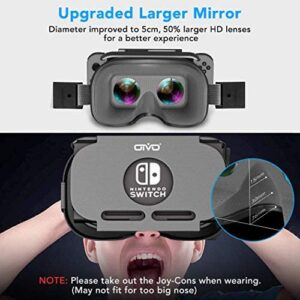 VR Headset for Nintendo Switch, OIVO 3D VR (Virtual Reality) Glasses, Labo Goggles Headset for Nintendo Switch