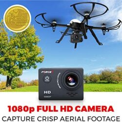 Force1 F100GP Drones with Camera for Adults – 1080p HD Camera Compatible GoPro Drone Long Range Brushless Quadcopter Flying Toy