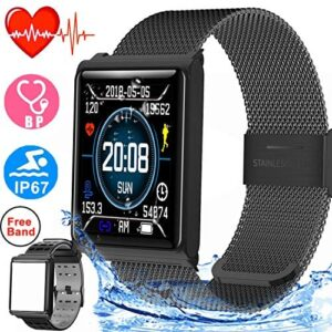 Duperym Smart Watch for Men Women Waterproof Sport Fitness Tracker Outdoor Great Gifts with Heart Rate Blood Pressure Sleep Monitor Wearable Wristband Watch Activity Tracker Compatible iOS Android