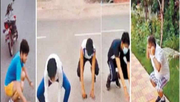 लॉकडाउन-2 में पुलिस ने बढाई सख्ती : सैर पर जाना पड़ा महंगा, कराई उठक-बैठक