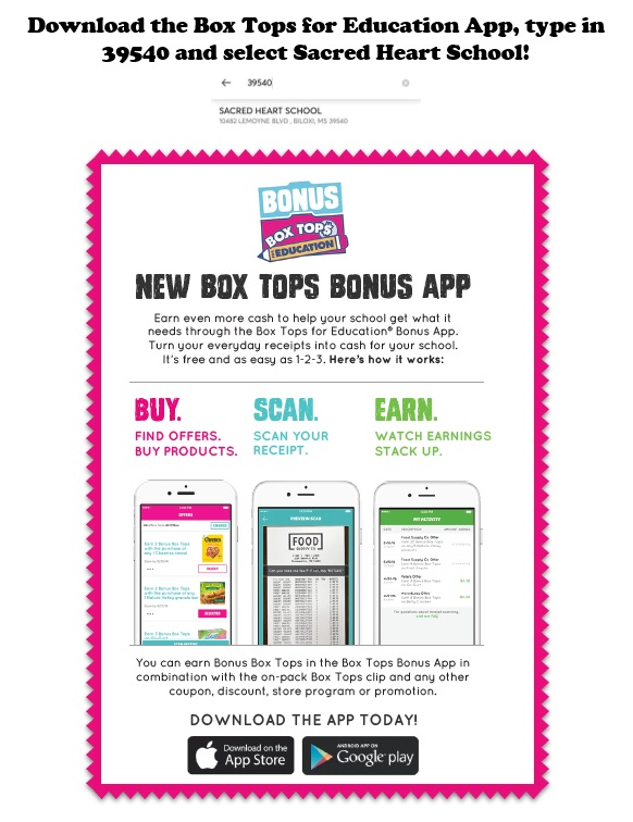Box Tops for Education – Sacred Heart Catholic Elementary School
