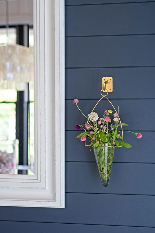 wall flower vase white mirror chandelier hale navy blue wall shiplap