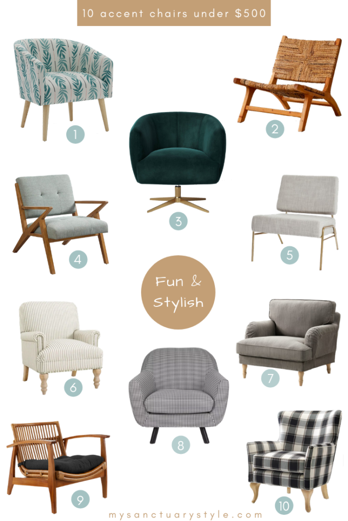 Superb 10 Fun Stylish Accent Chairs Under 500 Sanctuary Ocoug Best Dining Table And Chair Ideas Images Ocougorg
