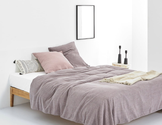 duvet cover on platform bed