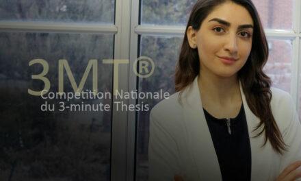 Une étudiante de maîtrise du Département de chimie et de biochimie de l'Université Concordia a gagné le concours national 3MT, qui consiste à résumer une thèse en 3 minutes.