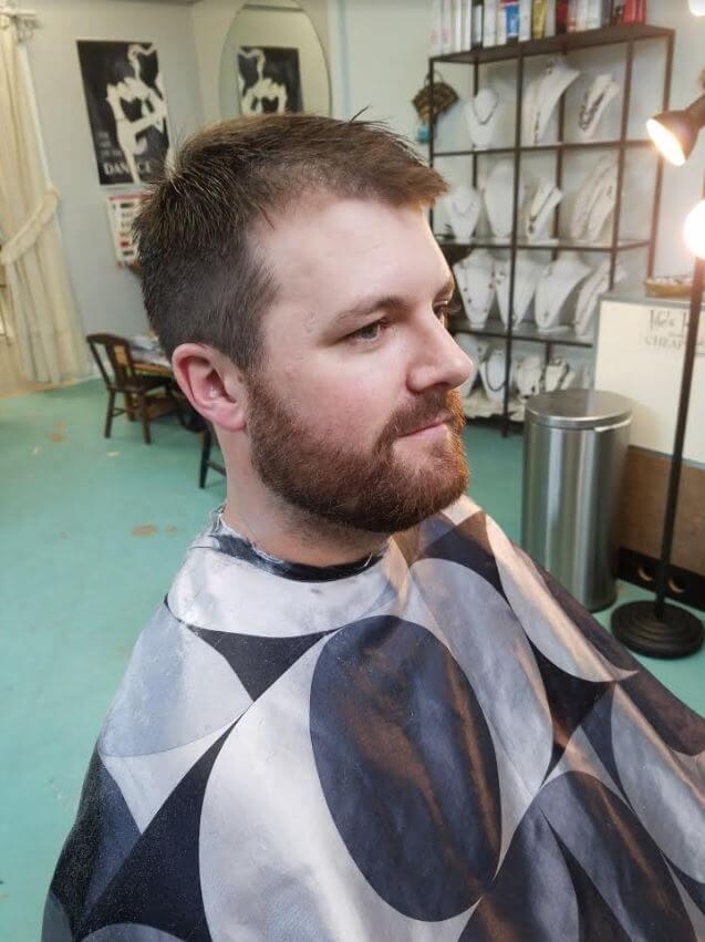 football coach haircut beard trim