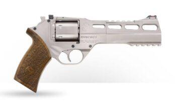 CHIAPPA RHINO 6″ 60DS Revolver | Nickel | .357 Magnum/.38 Special (340.224)