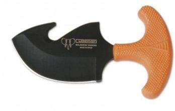 Cudeman – 139-W Skinner Orange Rubber Handle Black Blade