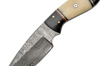 Damascus – Fixed Blade White Bone