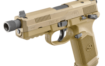 FNH FNX-45 TACTICAL, 45ACP, FDE, 15+1, THREADED BARREL, NIGHT SIGHTS, (FN66968)   COMING SOON