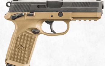 FNH –  FNX-45, USG, 45 ACP, BLK/FDE, 15+1, w/Safety (66964)