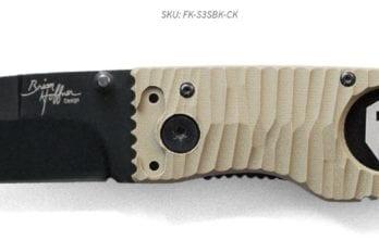 Hoffner 3.5 Chiseled Khaki Grips | Black Smooth Blade (FK-S3SBK-CK)