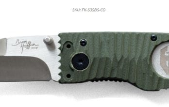 Hoffner 3.5 Chiseled Olive Grips | Silver Smooth Blade (FK-S3SBS-CO)