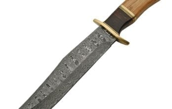 Damascus – Olive Wood Bowie