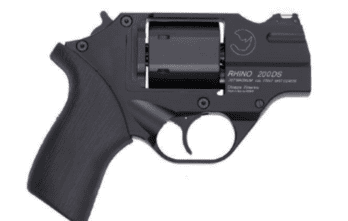 CHIAPPA RHINO COMBO Dual-Cylinder 2″ 200D DAO Revolver | Black | .357 Magnum/.38 Special | 9mm Cylinder (340.237)