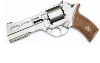 CHIAPPA RHINO 5″ 50DS Revolver   Nickel   40S&W (340.233)