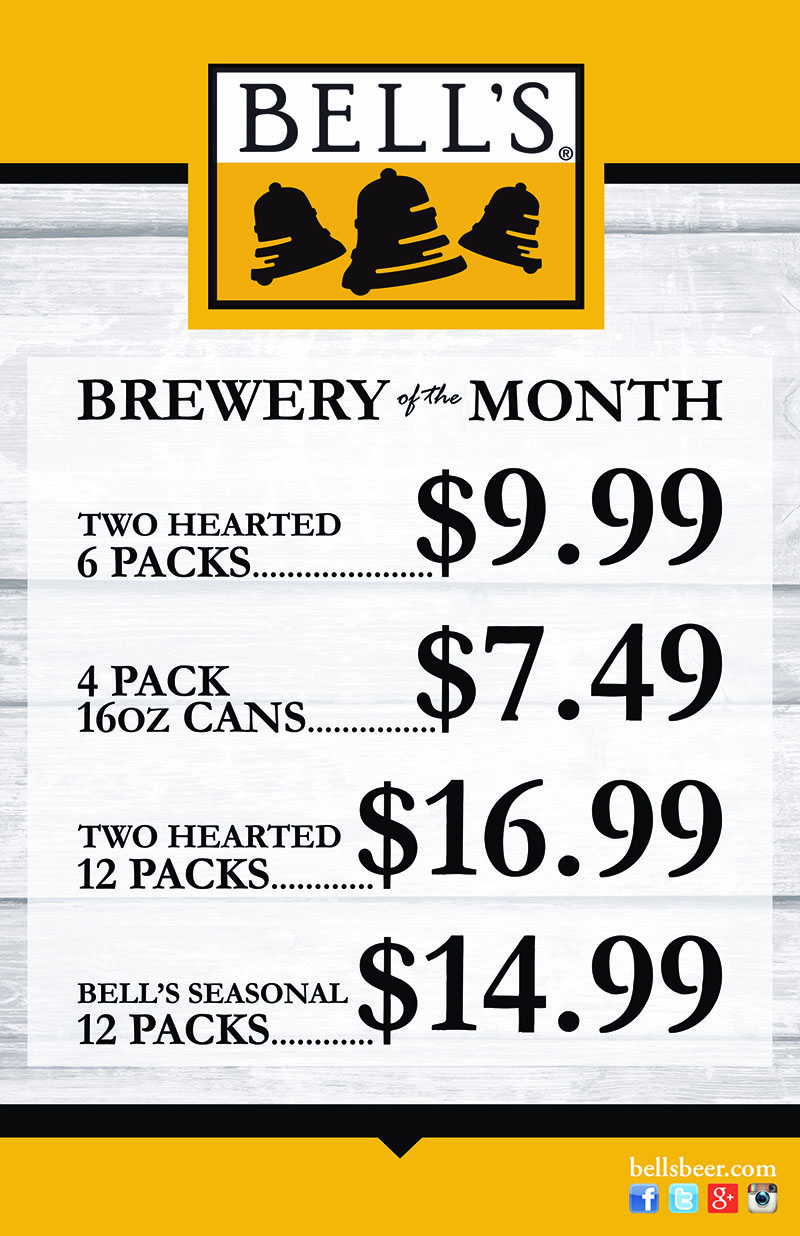 Bell's Brewing Co. - October's Featured Brewery of the Month at S&V Liquors