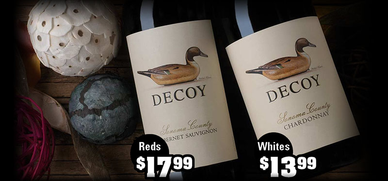 Duckhorn Decoy Wines - December's Featured Wines at S&V Liquors