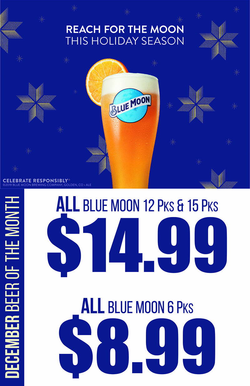 Blue Moon Brewing Co. - December's Featured Brewery at S&V Liquors