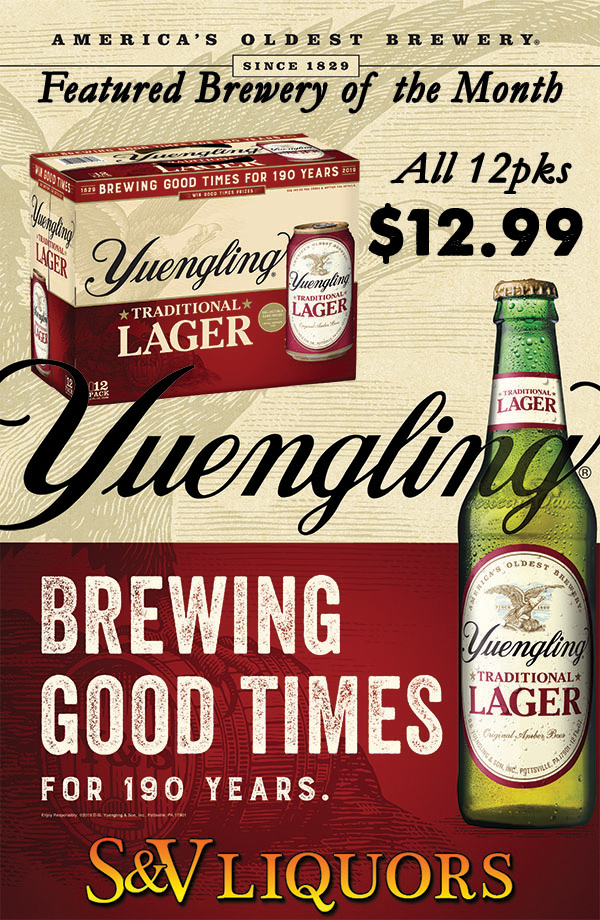 Yuengling Brewing Co. - April's Featured Brewery at S&V Liquors