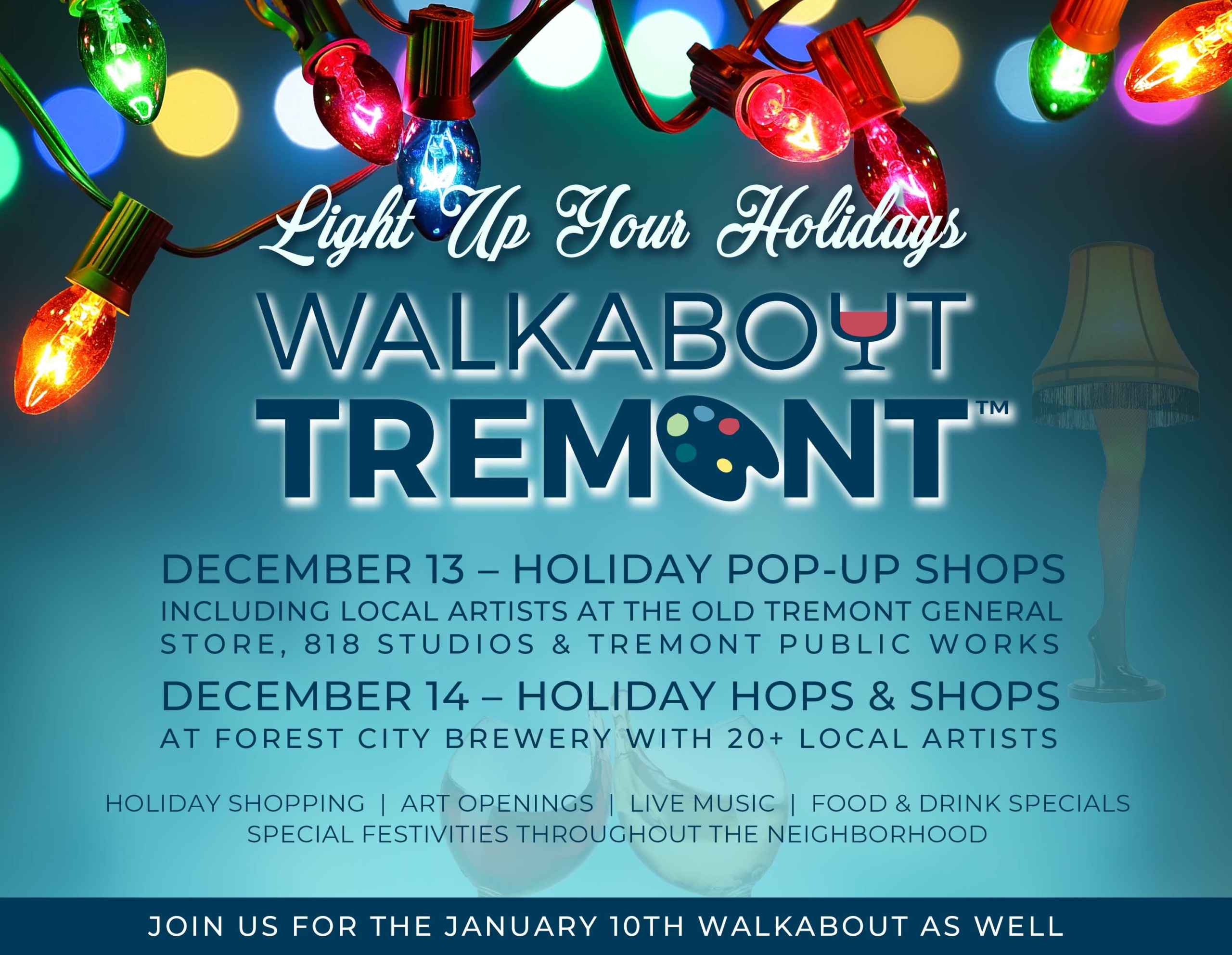 WALKABOUT TREMONT HOSTS NEIGHBORHOOD-WIDE POP-UP SHOPS TO LIGHT UP THE HOLIDAYS