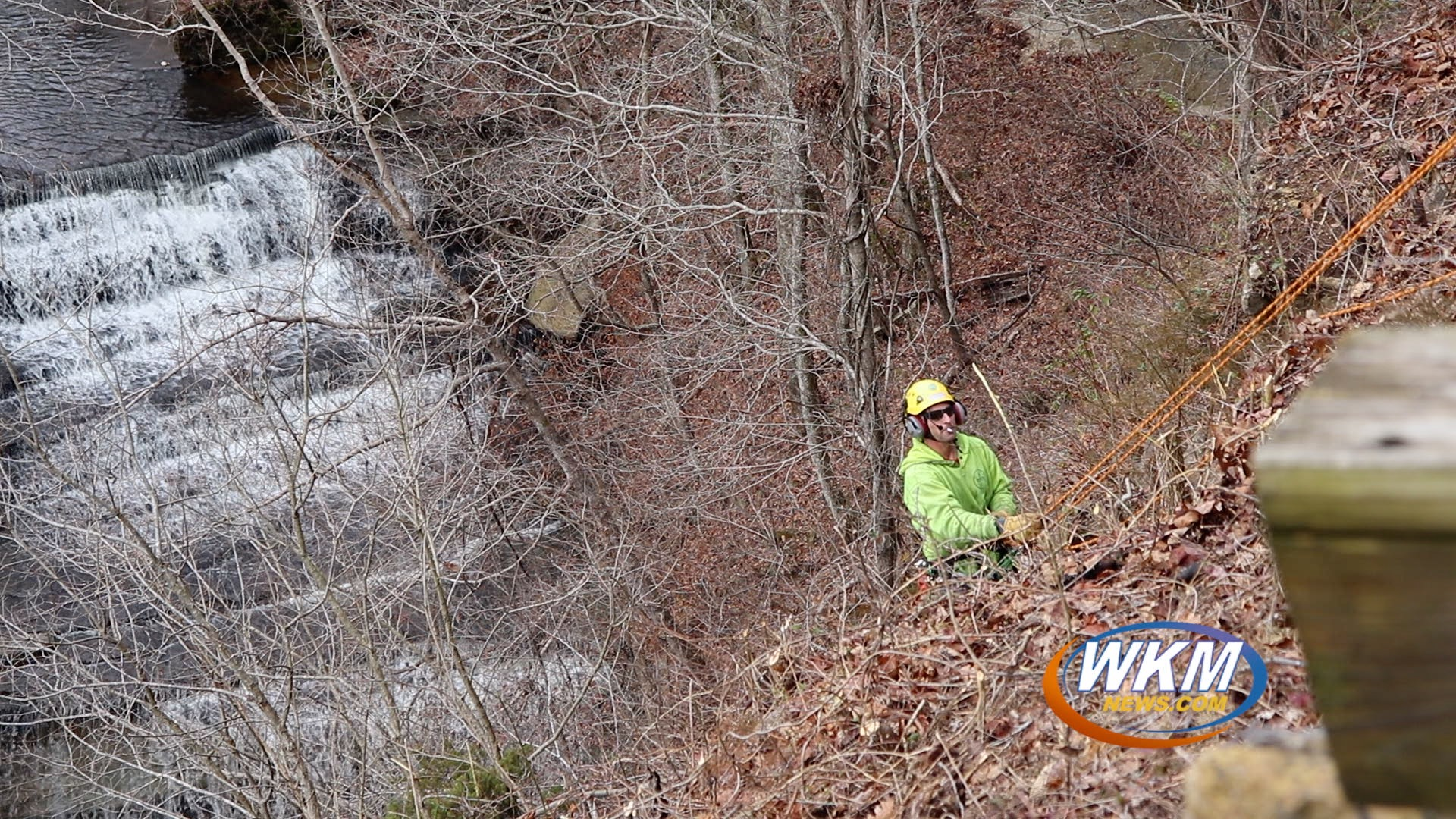 Improved View of Clifty Waterfalls Thanks to Volunteer Tree Trimmers