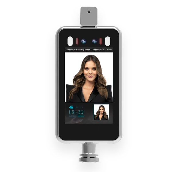 Access Control Terminal Screen with Face recognition and temperature detection