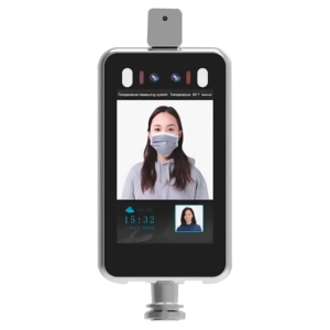 Pantalla de Control de Acceso con Reconocimiento Facial y detección de temperatura