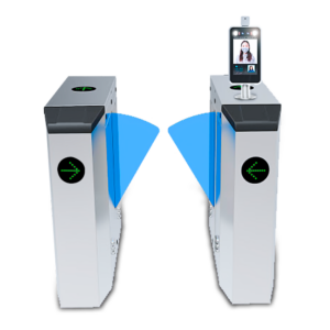 Turnstile with AI face recognition and temperature detecting device