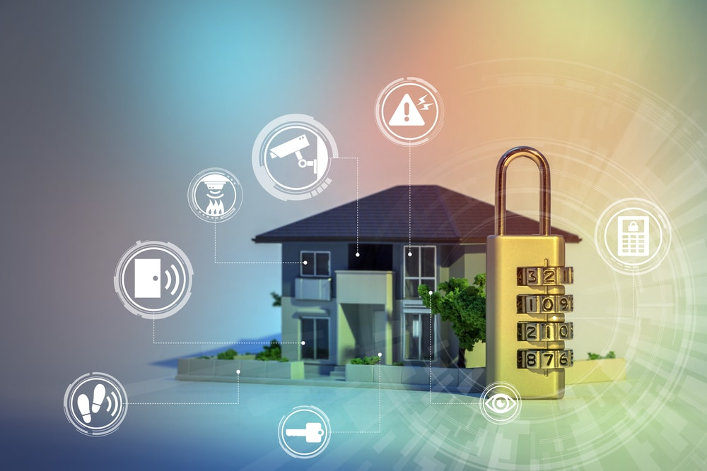 home security concept abstract