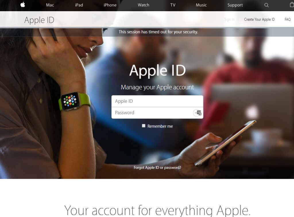 apple account login