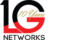 LG Networks Inc 10 Year Anniversary Logo